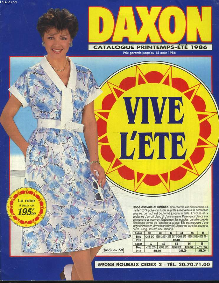 CATALOGUE DAXON PRINTEMPS-ETE 1986. VIVE L'ETE.