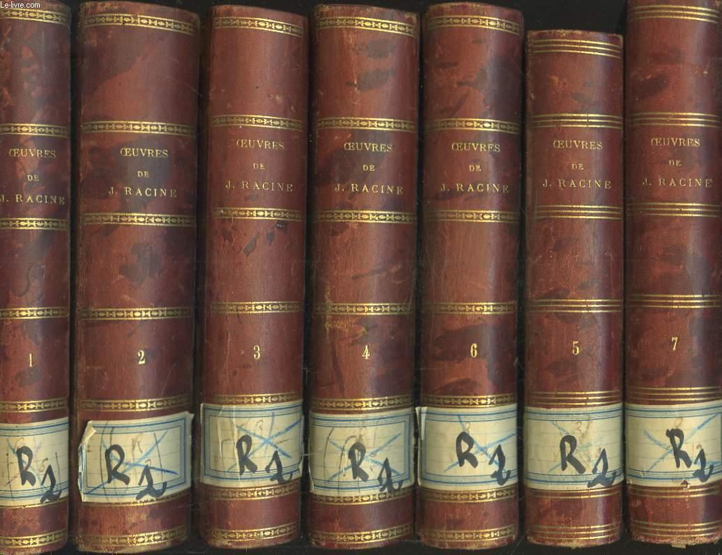 OEUVRES EN 7 TOMES. AVEC DES COMMENTAIRES PAR J.L. GEOFFROY.