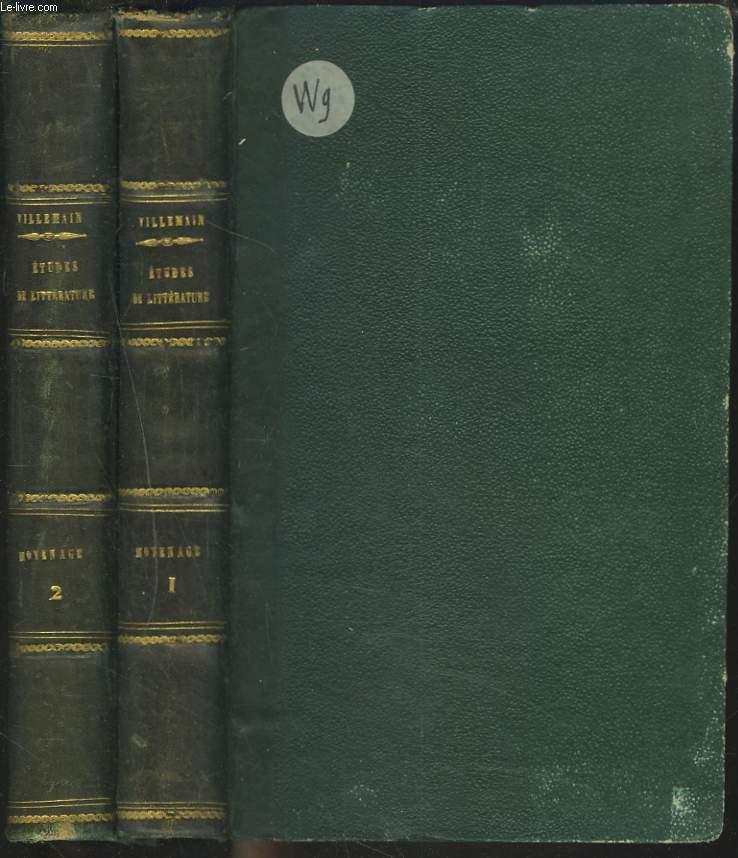 COURS DE LITTERATURE FRANCAISE. TABLEAU DE LA LITTERATURE DU MOYEN AGE. TOME I + TOME II.