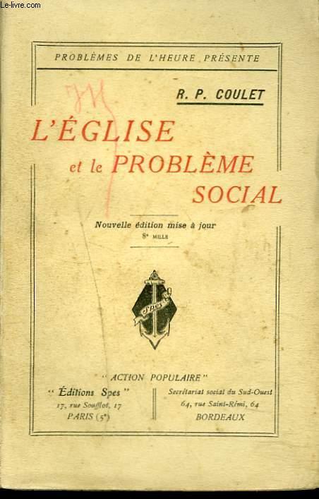 L'EGLISE ET LE PROBLEME SOCIAL