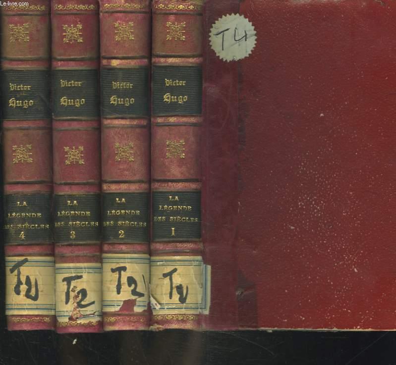 OEUVRES COMPLETES. LA LEGENDE DES SIECLES EN 4 VOLUMES.