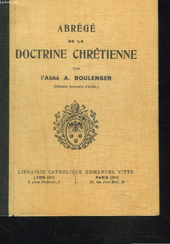 ABREGE DE LA DOCTRINE CHRETIENNE. COURS MOYEN.