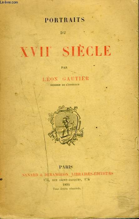 PORTRAITS DU XVIIe SIECLE.