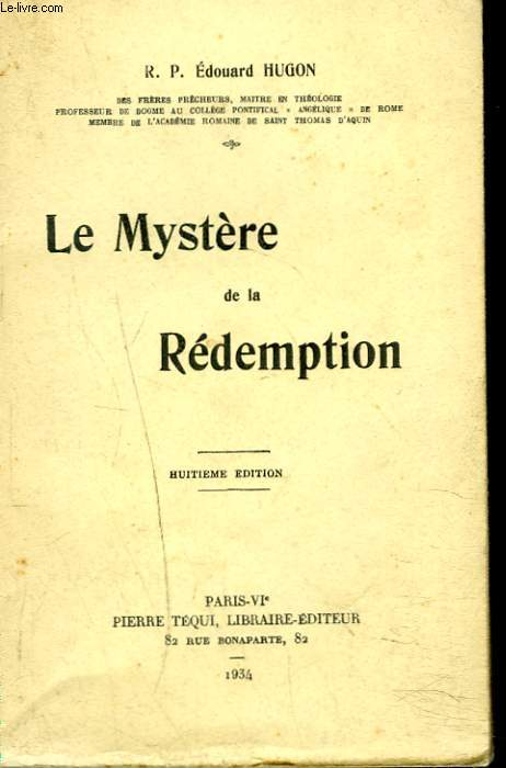 LE MYSTERE DE LA REDEMPTION