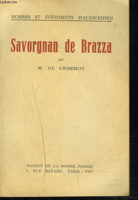 SAVORGNAN DE BRAZZA