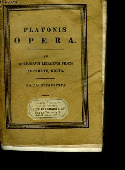 PLATONIS OPERA Cum Scholiis a Rhunkenio Collectis. Ad Optimorum Librorum Fidem. Accurate Edita. TOMUS V. Isunt : DE REPUBLICA SIVE DE IUSTO LIBRI DECEM.