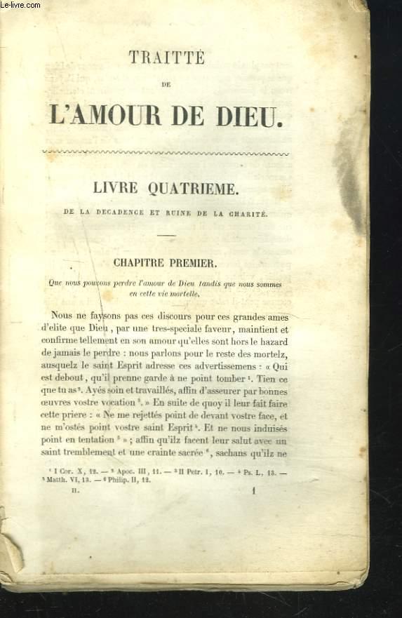 OEUVRES COMPLETES. TRAITE DE L'AMOUR DE DIEU (LIVRE QUATRIEME au LIVRE DOUZIEME)