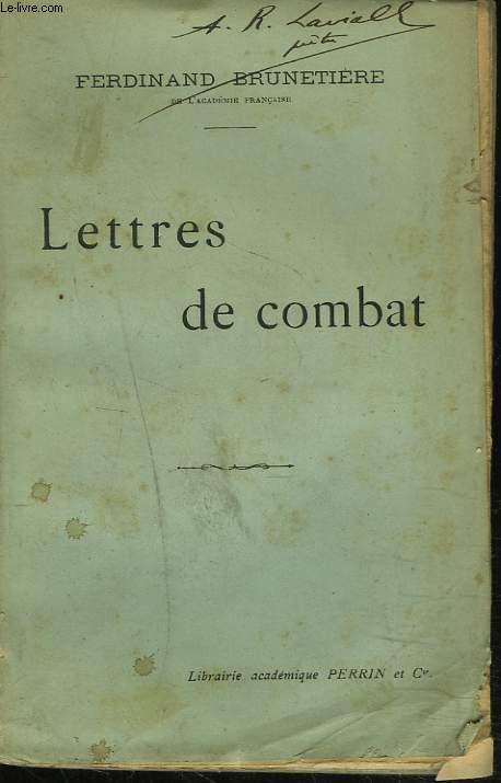 LETTRES DE COMBAT