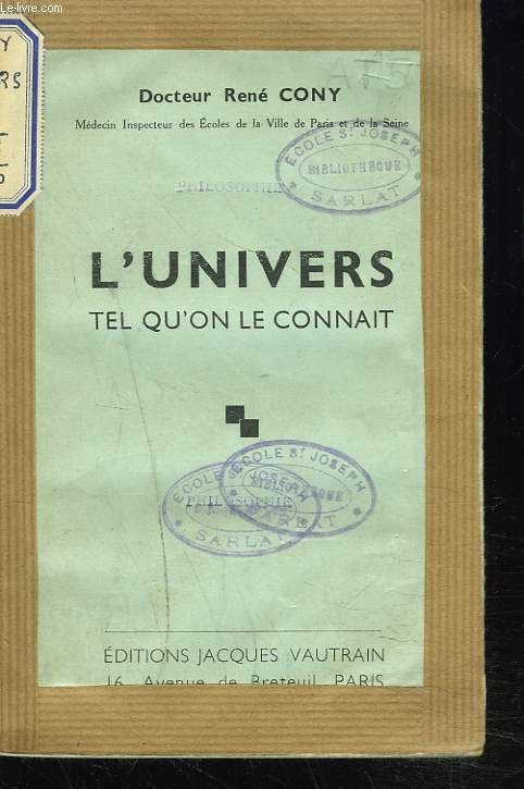 L'UNIVERS TEL QU'ON LE CONNAIT