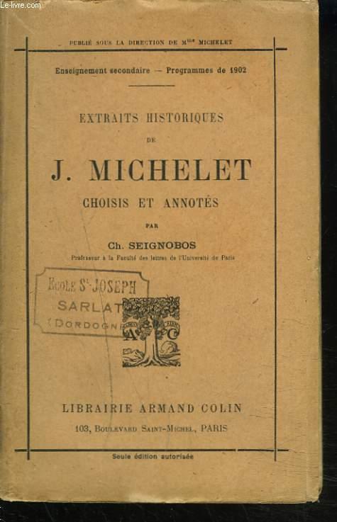 EXTRAITS HISTORIQUES choisis et annotés par CH. SEIGNOBOS.