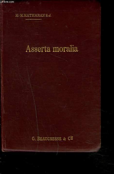 ASSERTA MORALIA