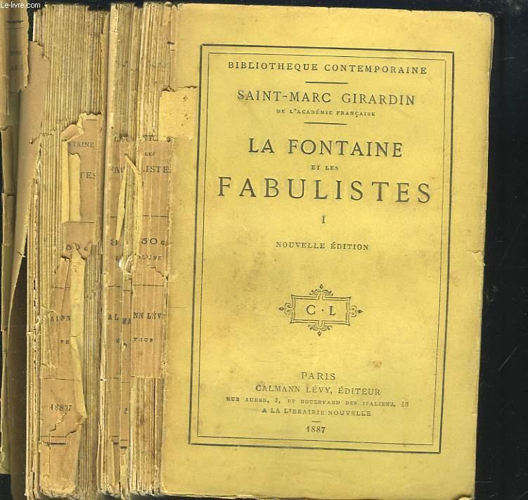 LA FONTAINE ET LES FABULISTES. TOMES I ET II.
