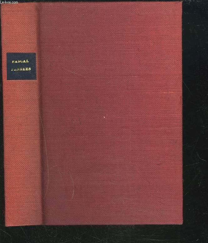 PENSEES. (EDITION CLASSIQUE PAR L'ABBE MARGIVAL).