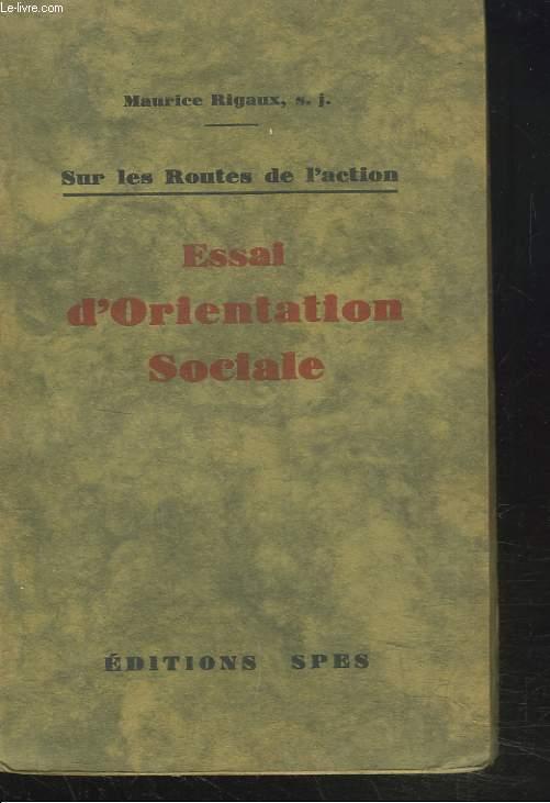 ESSAI D'ORIENTATION SOCIALE