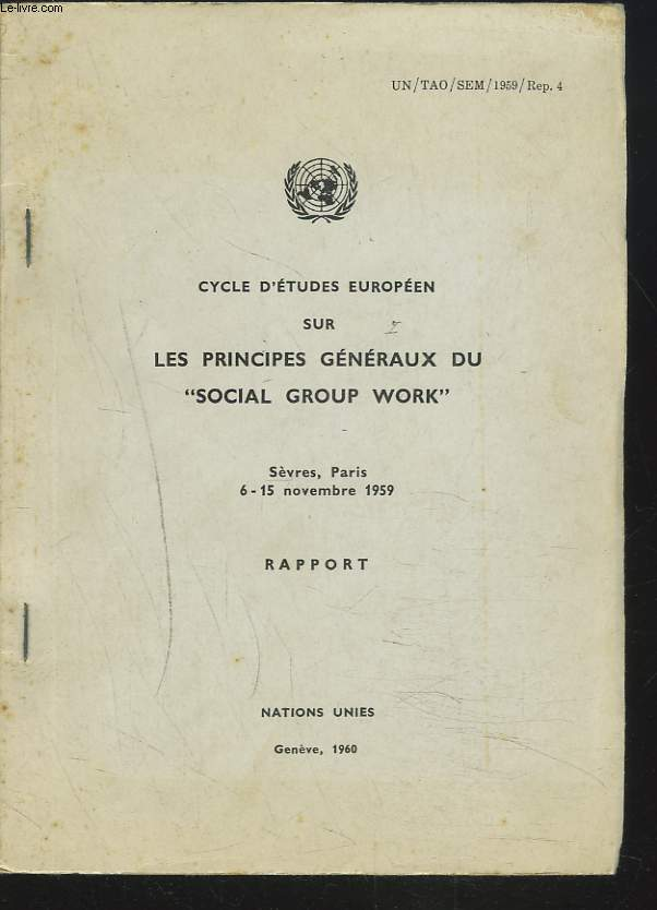 CYCLE D'ETUDES EUROPEEN SUR LES PRINCIPES GENERAUX DU