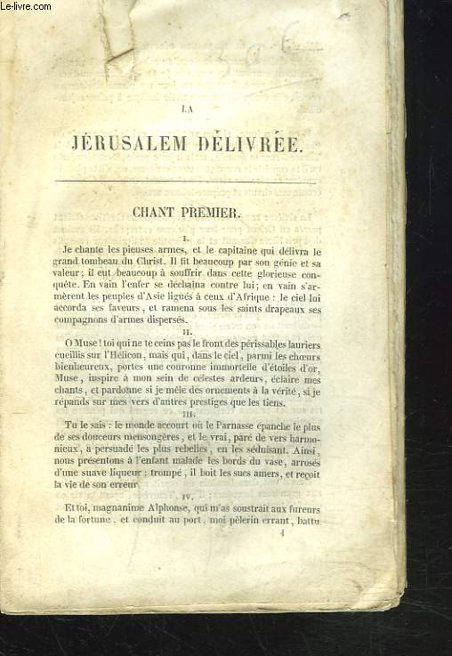 LA JERUSALEM DELIVREE.
