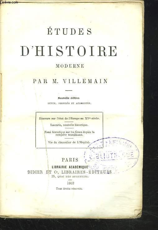 ETUDES D'HISTOIRE MODERNE.