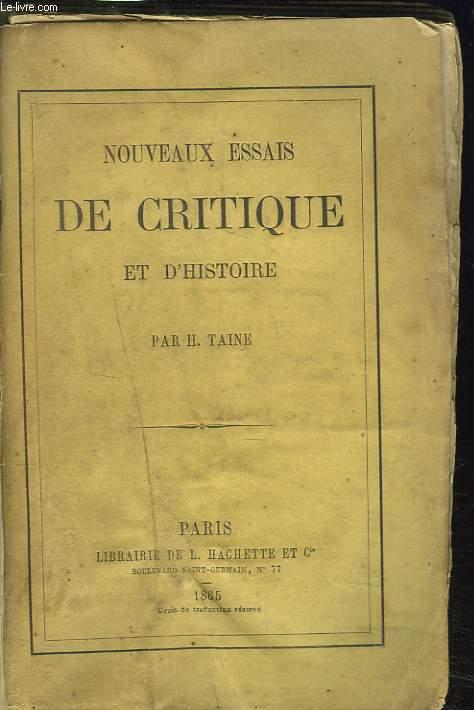 NOUVEAUX ESSAIS DE CRITIQUE ET D'HISTOIRE.