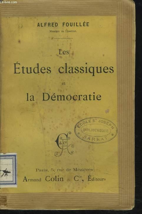 LES ETUDES CLASSIQUES ET LA DEMOCRATIE
