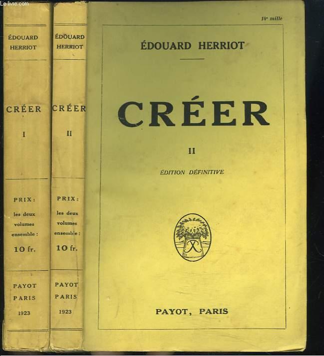 CREER. TOMES I ET II.