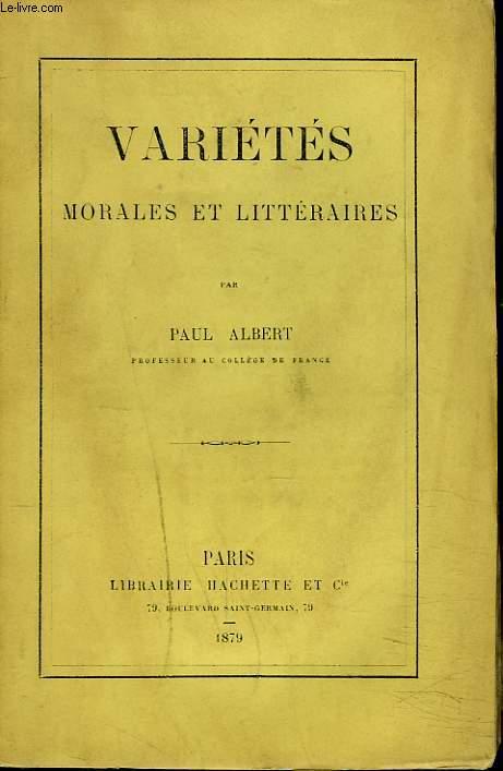 VARIETES MORALES ET LITTERAIRES