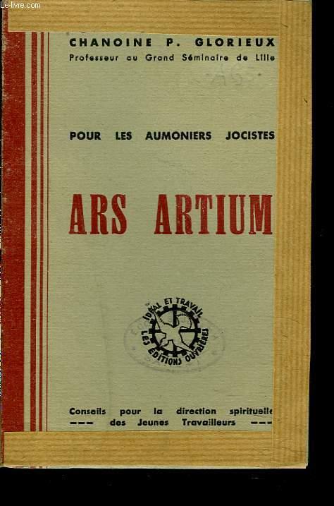 POUR LES AUMONIERS JOCISTES. ARS ARTIUM.