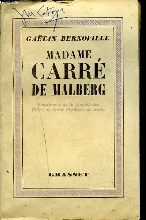 MADAME CARRE DE MALBERG. Fondatrice De La Société Des Filles De Saint François De Sales.