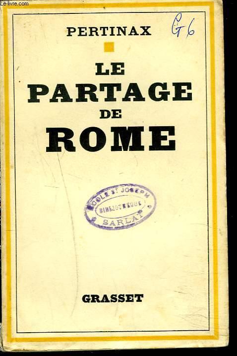 LE PARTAGE DE ROME
