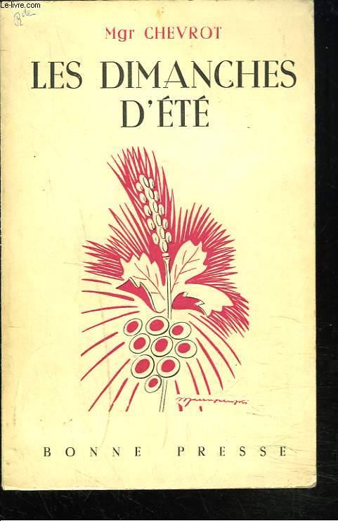LES DIMANCHES D'ETE. INSTRUCTIONS PAROISSIALES.