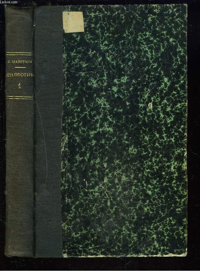 ELEMENTS DE PHILOSOPHIE - TOME I - INTRODUCTION GENERALE A LA PHILOSOPHIE.