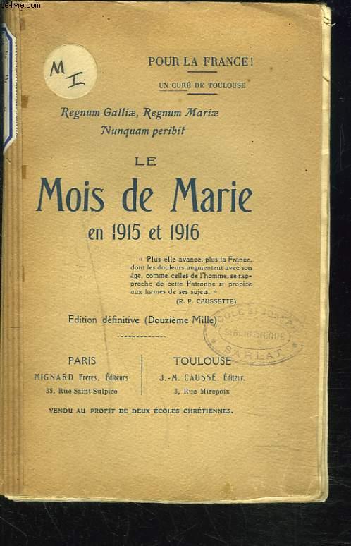 LE MOIS DE MARIE EN 1915 ET 1916.