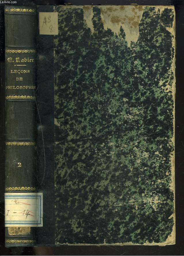 LECONS DE PHILOSOPHIE. TOME II. LOGIQUE.