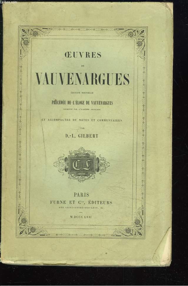 OEUVRES DE VAUVENARGUES.