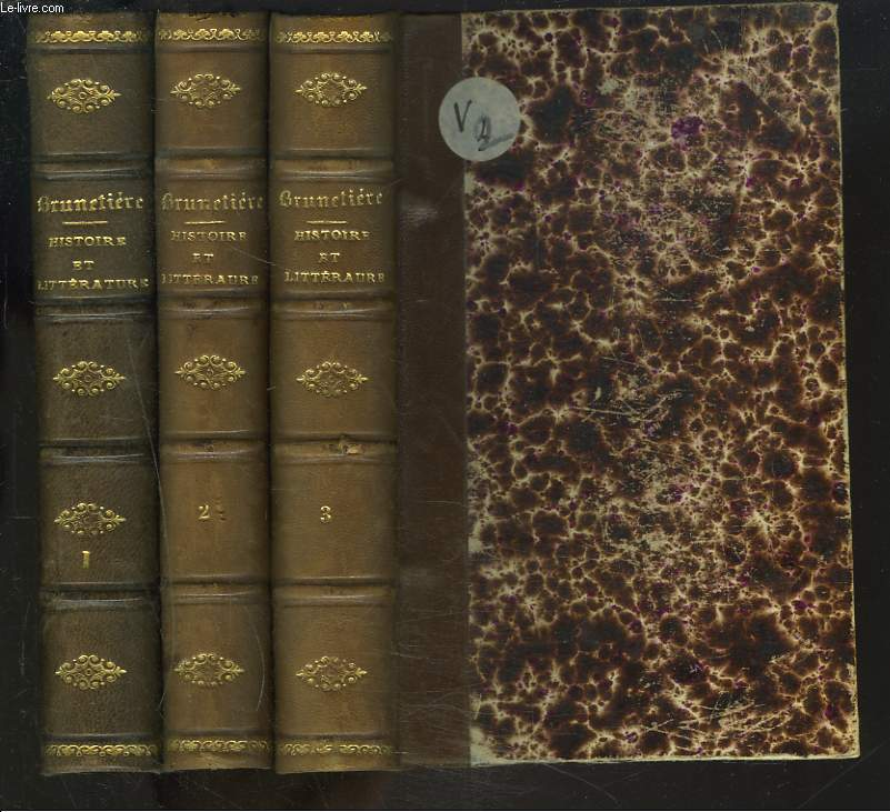HISTOIRE ET LITTERATURE. TOMES I, II et III.