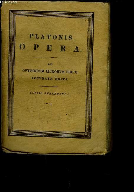 PLATONIS OPERA Cum Scholiis a Rhunkenio Collectis. Ad Optimorum Librorum Fidem. Accurate Edita. TOMUS IV.