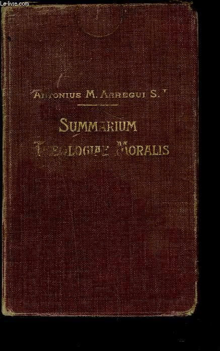 SUMMARIUM THEOLOGIAE MORALIS. Ad recentem codicem iuris canonici accommodatum.