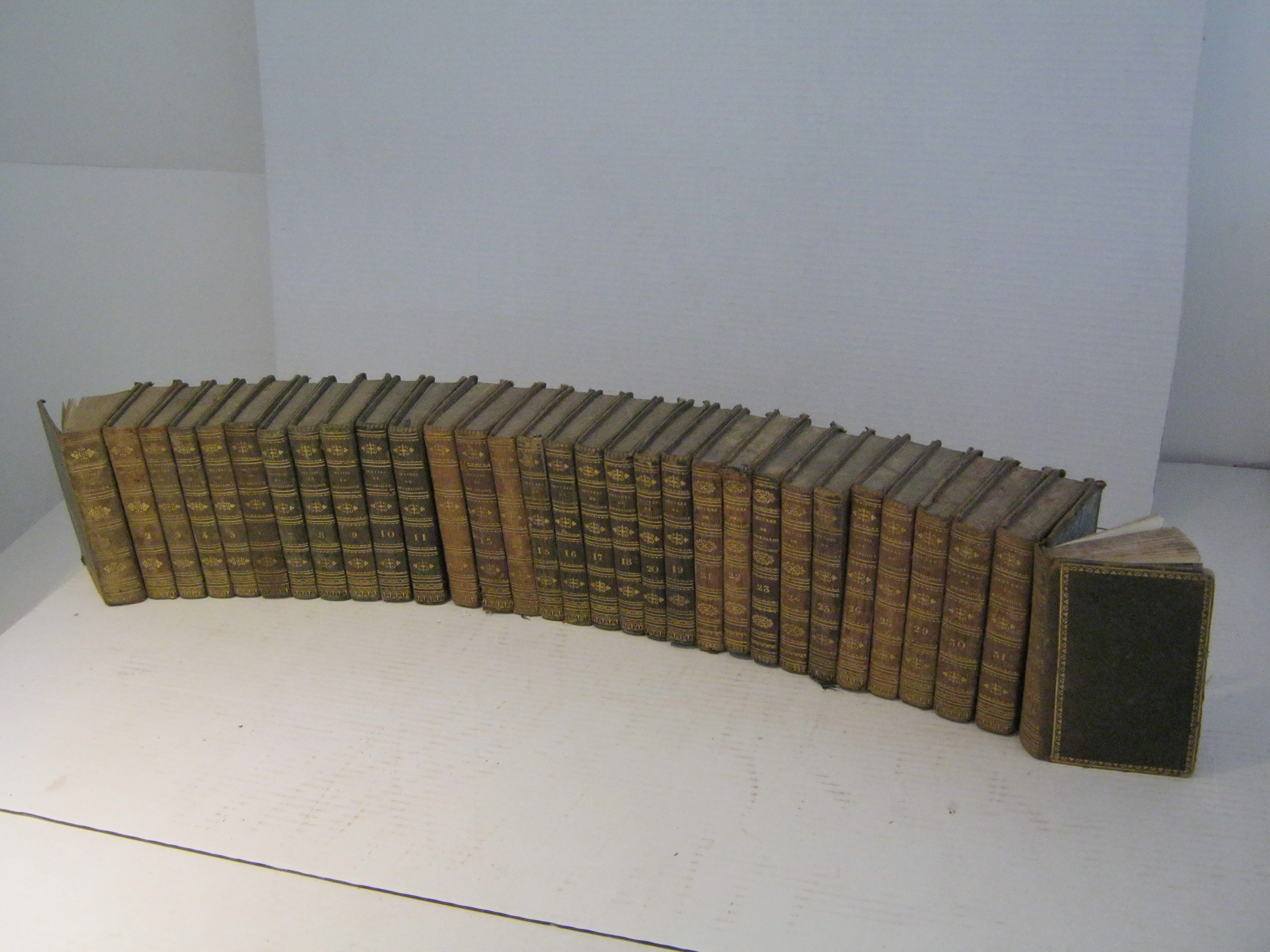 OEUVRES COMPLETES DE BOURDALOUE COLLATIONNEES SUR LES MEILLEURES EDITIONS. TOMES 1 à 26 et 28 à 32. (INCOMPLET : MANQUE LE TOME 27).