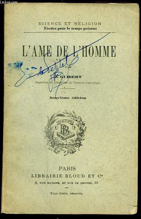 L'AME DE L'HOMME