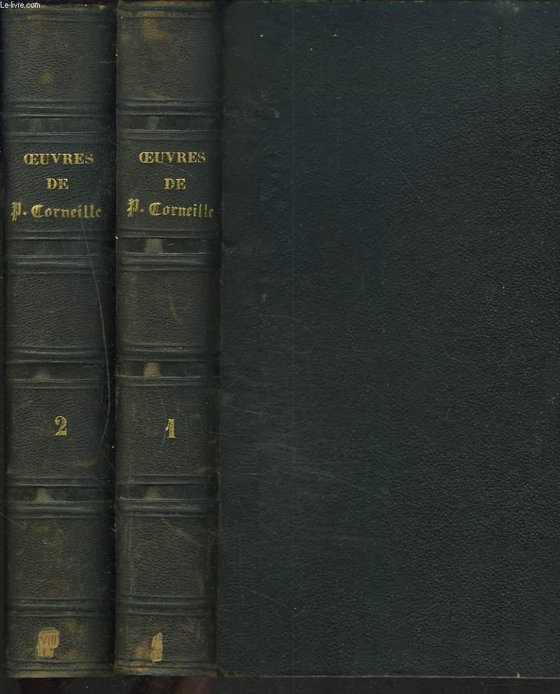 OEUVRES COMPLETES SUIVIES DES OEUVRES CHOISIES DE TH. CORNEILLE AVEC LES NOTES DE TOUS LES COMMENTATEURS. TOMES I ET II.
