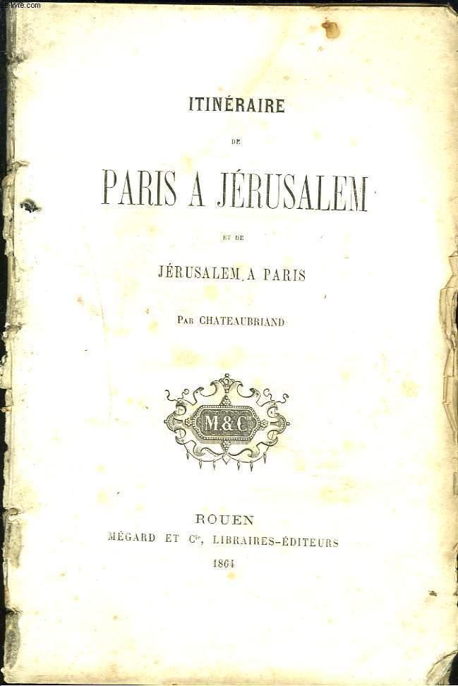 ITINERAIRE DE PARIS à JERUSALEM