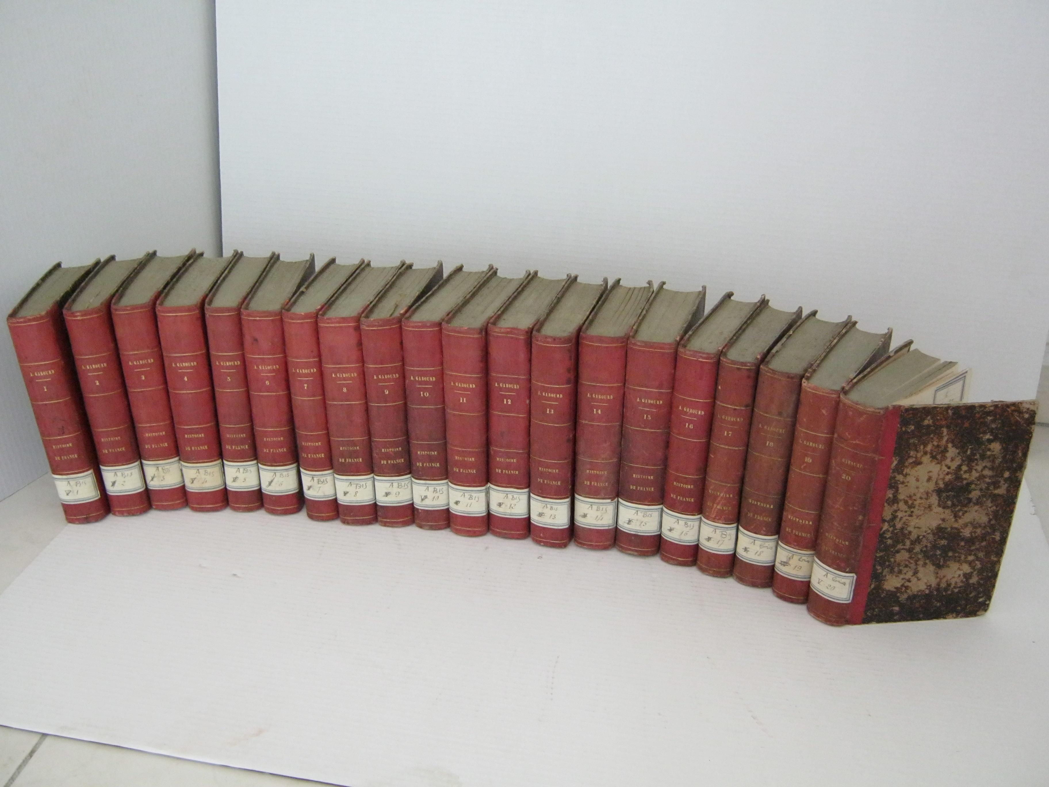 HISTOIRE DE FRANCE DEPUIS LES ORIGINES GAULOISES JUSQU'A NOS JOURS. 20 TOMES.
