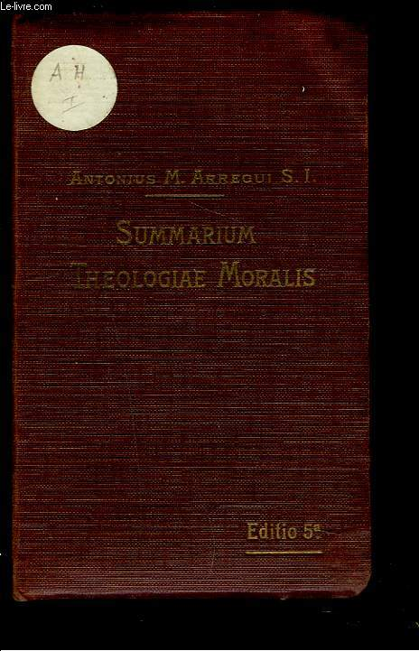 SUMMARIUM THEOLOGIAE MORALIS ad recentem codicem Iuris Canonici accommodatum.
