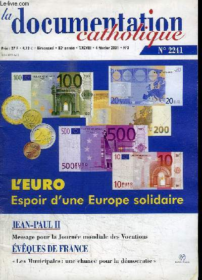 LA DOCUMENTATION CATHOLIQUE - N°2241 - FEVRIER 2001
