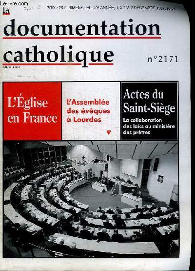 LA DOCUMENTATION CATHOLIQUE- N°2171 - DECEMBRE 1997