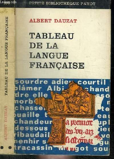 TABLEAU DE LA LANGUE FRANCAISE