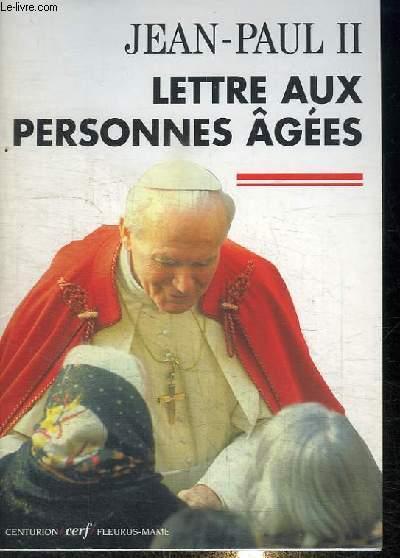 LETTRE AUX PERSONNES AGEES