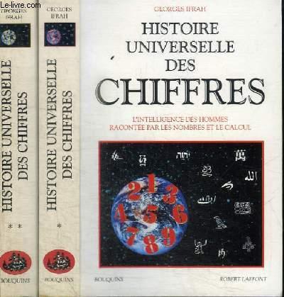 HISTOIRE UNIVERSELLE DES CHIFFRES TOME 1 ET 2 EN 2 VOLUMES