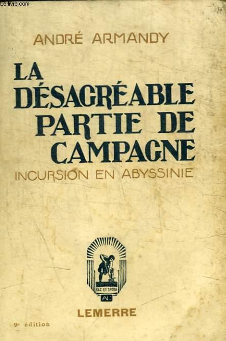 LA DESAGREABLE PARTIE DE CAMPAGNE - INCURSION EN ABYSSINIE