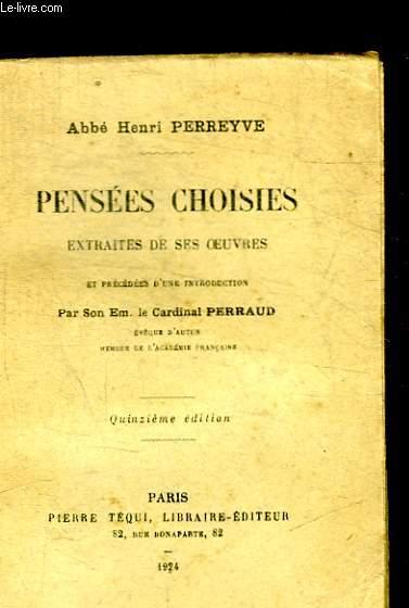 PENSEES CHOISIES