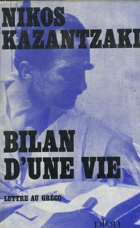 BILAN D UNE VIE - LETTRE AU GRECO